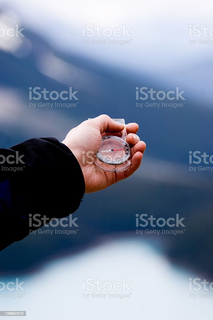 Finding direction royalty-free stock photo