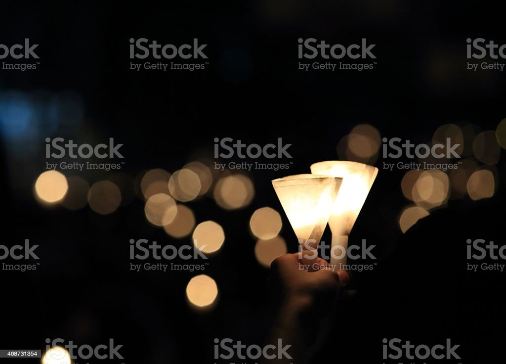 finding each other inthe light of dark stock photo