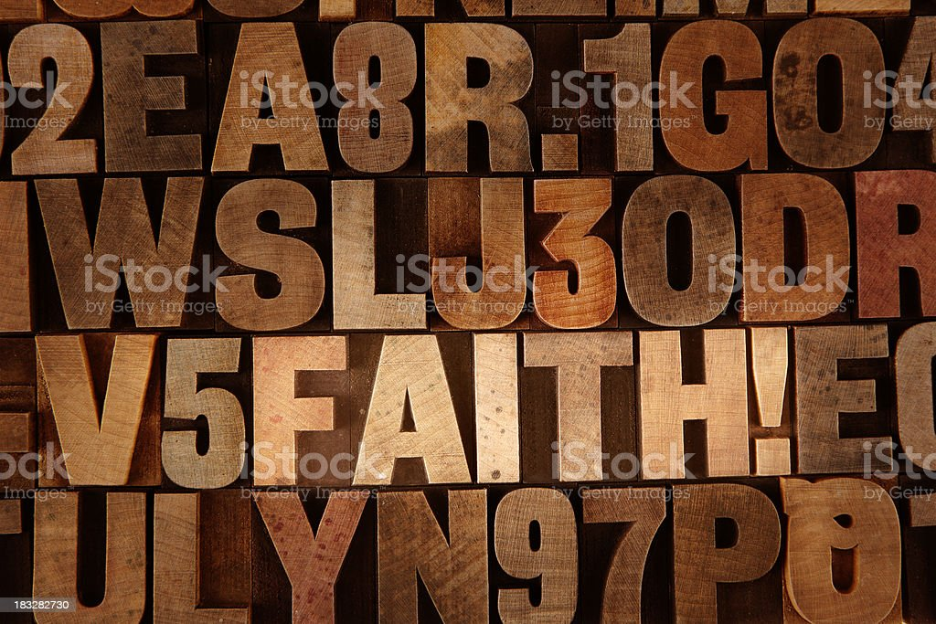 Finding Faith stock photo