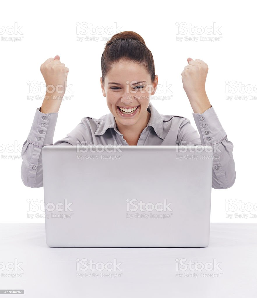 Finding fun online! royalty-free stock photo