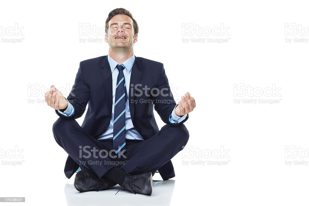 Finding his bliss stock photo