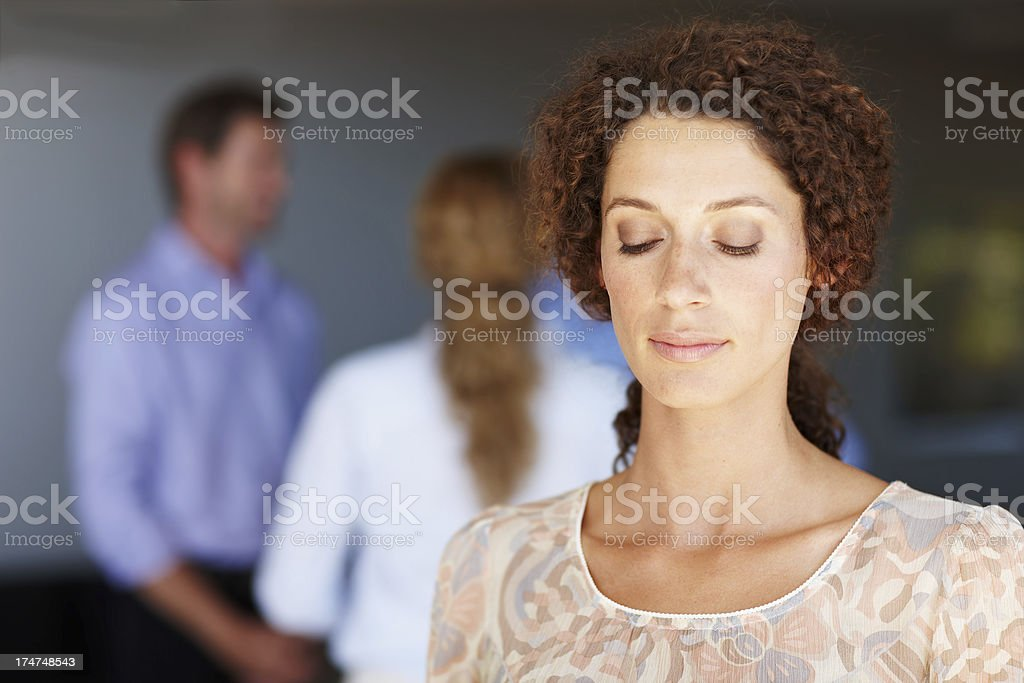 Finding inner peace at work royalty-free stock photo