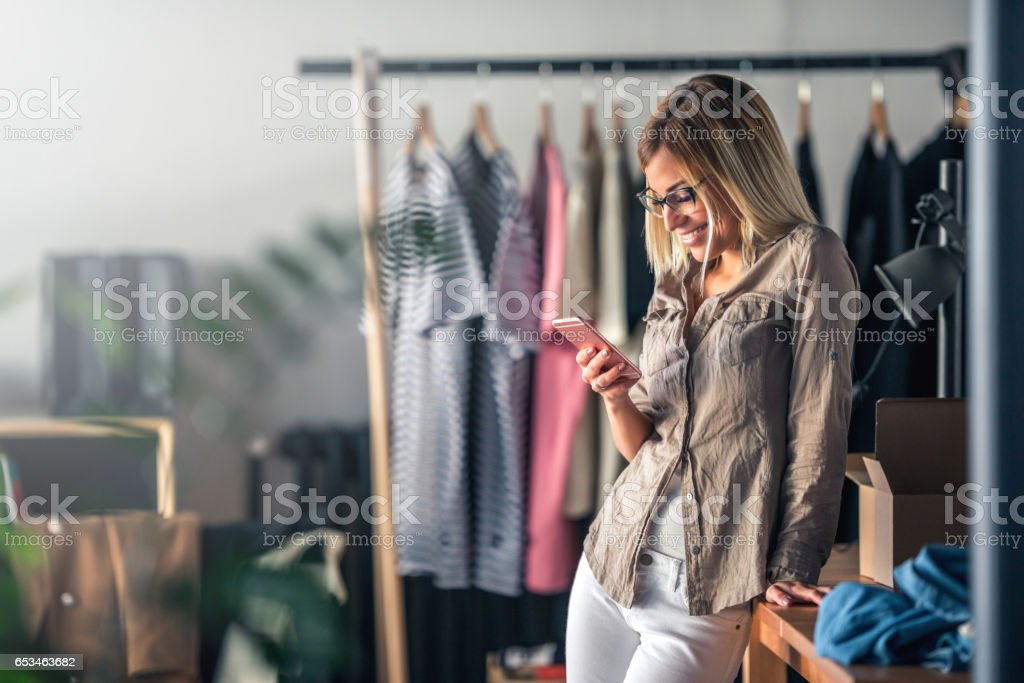 Finding inspiration for new designs stock photo