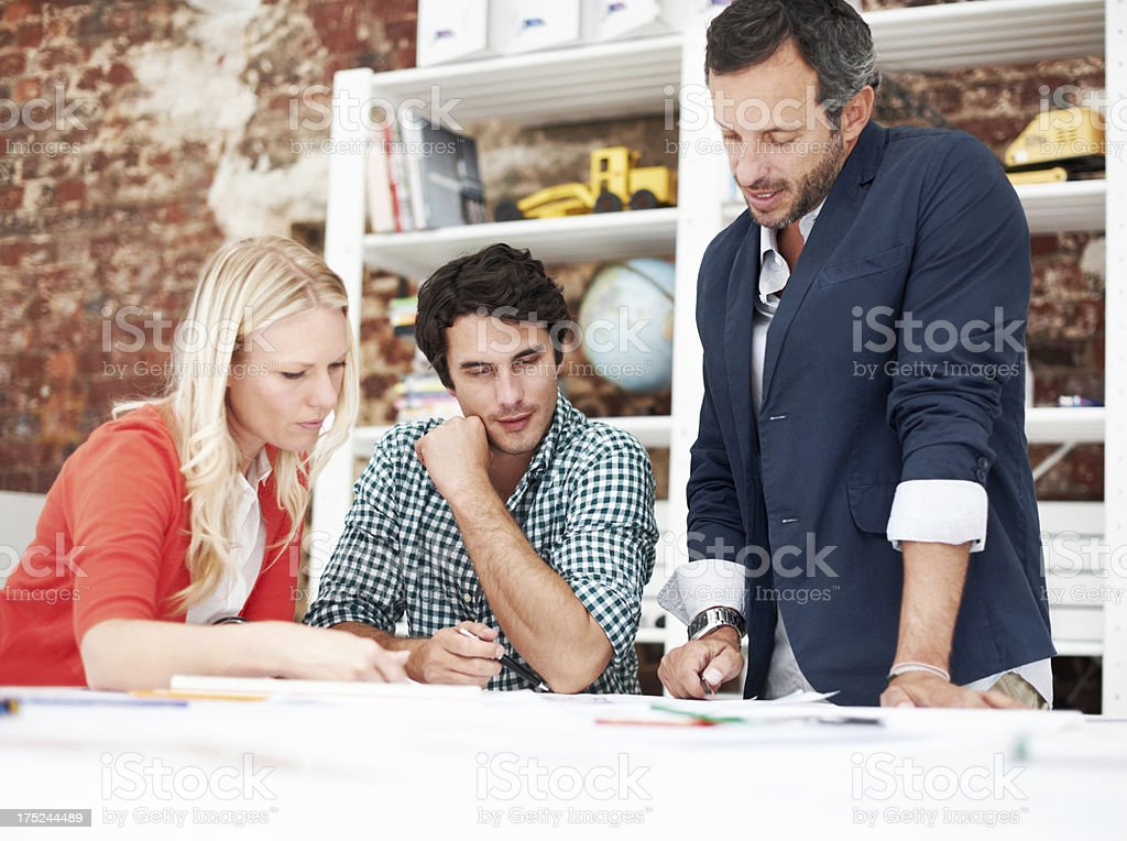 Finding new solutions to design problems royalty-free stock photo