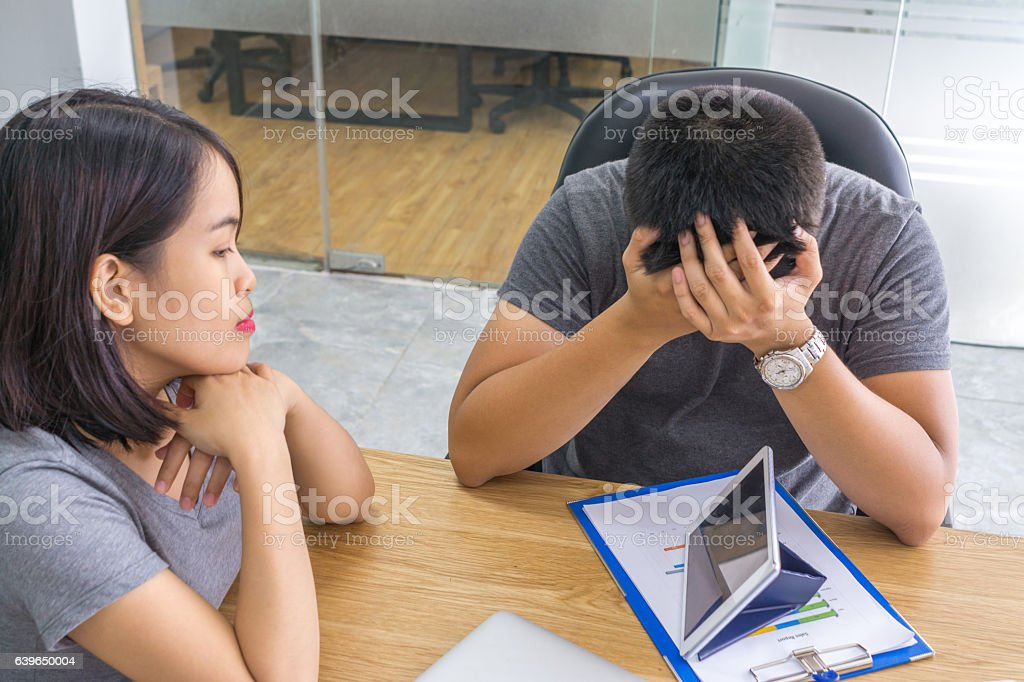 Finding out method to pass through crisis in business stock photo