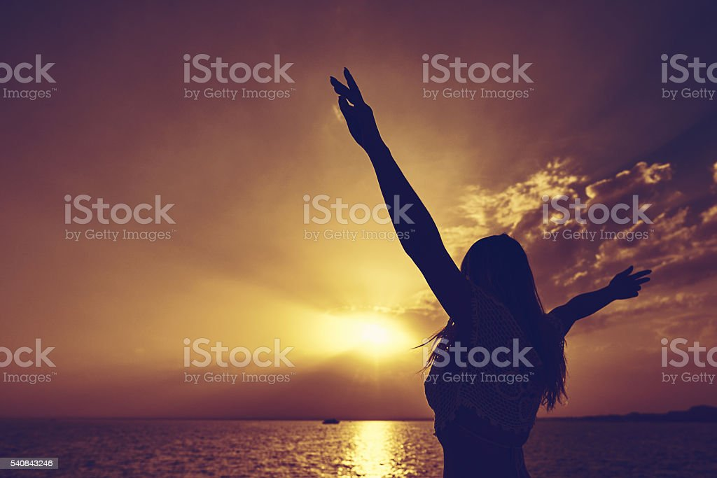 finding peace and harmony stock photo