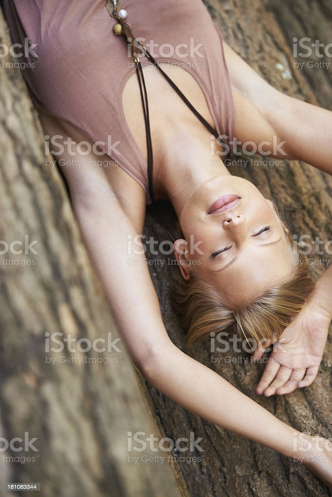 Finding peace in nature royalty-free stock photo
