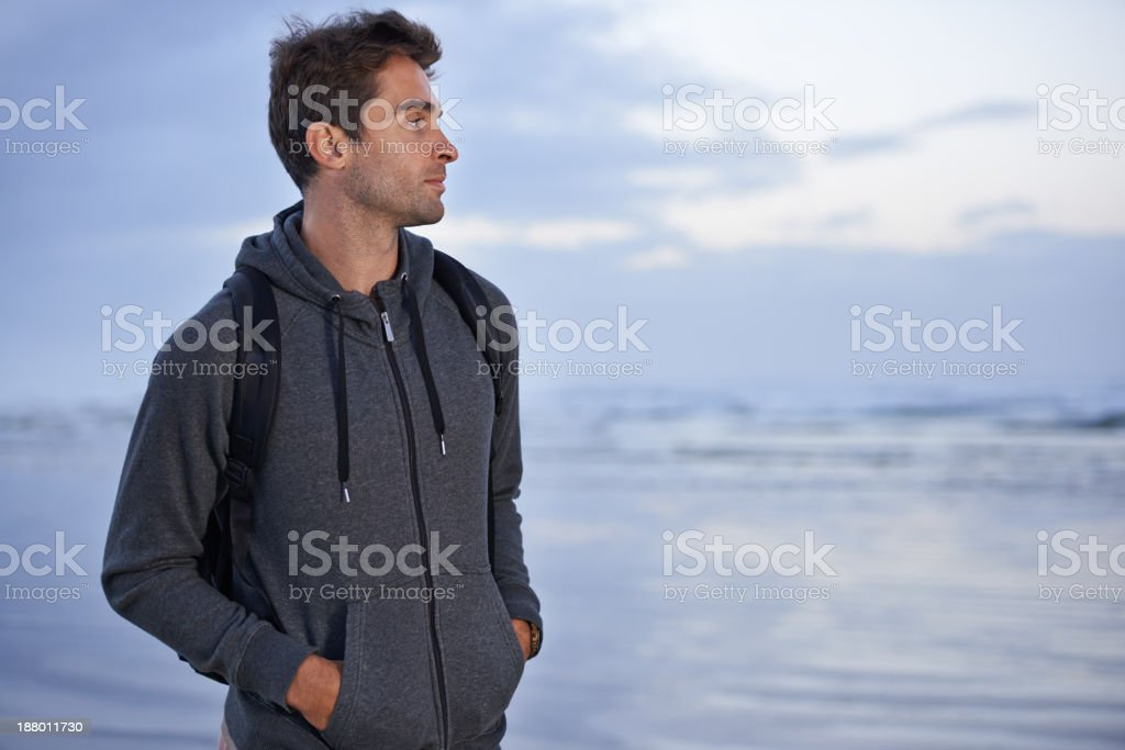 Finding peace in nature stock photo