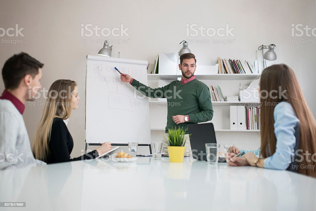 Finding Possible Solutions stock photo