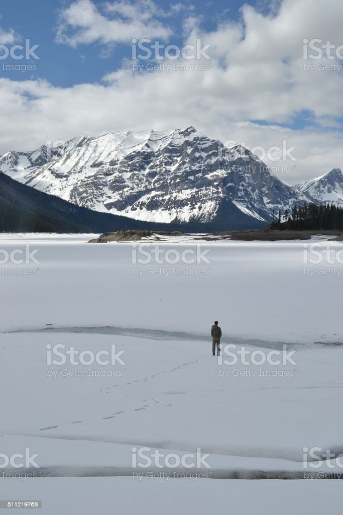 Finding Serenity in the Mountains stock photo