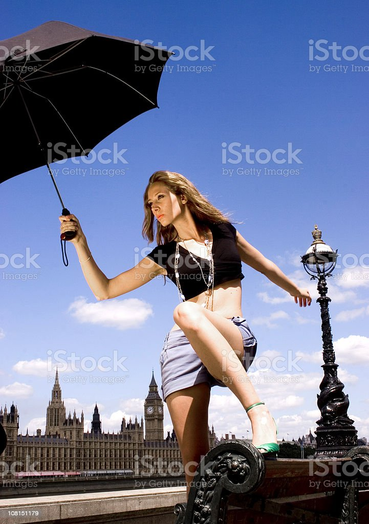 Finding shade in London royalty-free stock photo