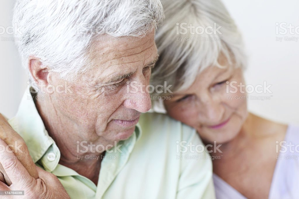 Finding solace together royalty-free stock photo