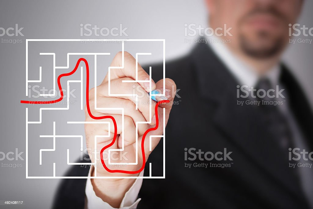 Finding solutions stock photo