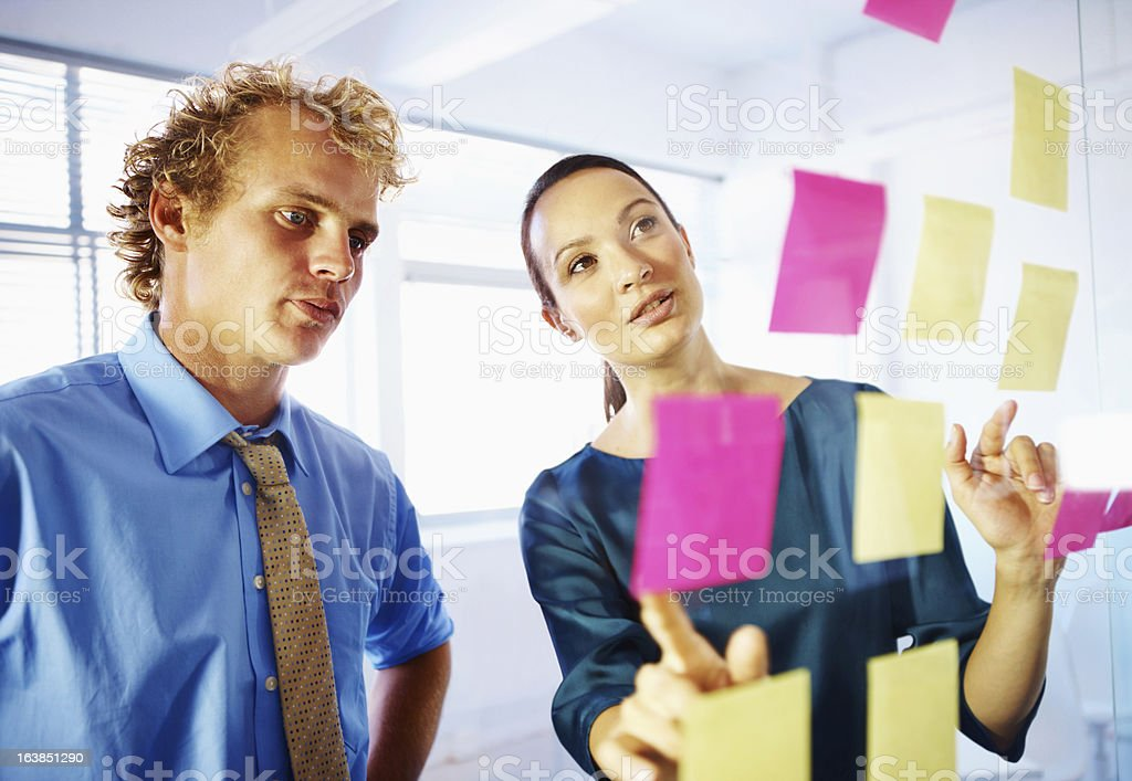 Finding the best solutions by working together royalty-free stock photo