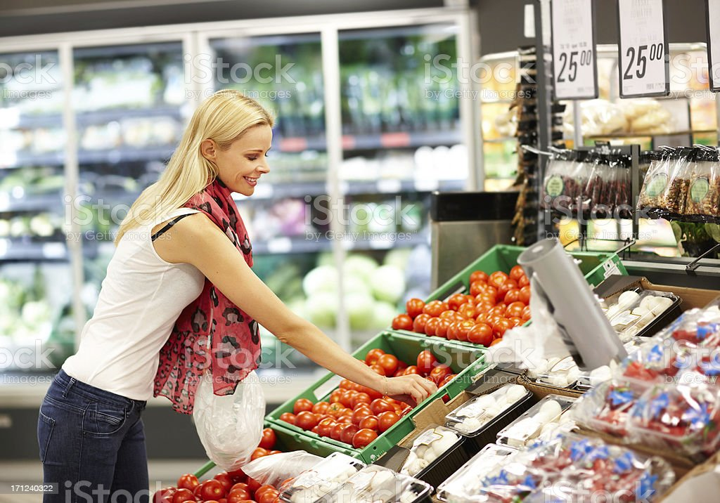 Finding the freshest vegetables for my table royalty-free stock photo