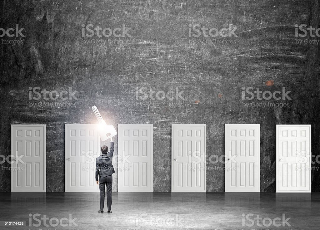Finding the key stock photo