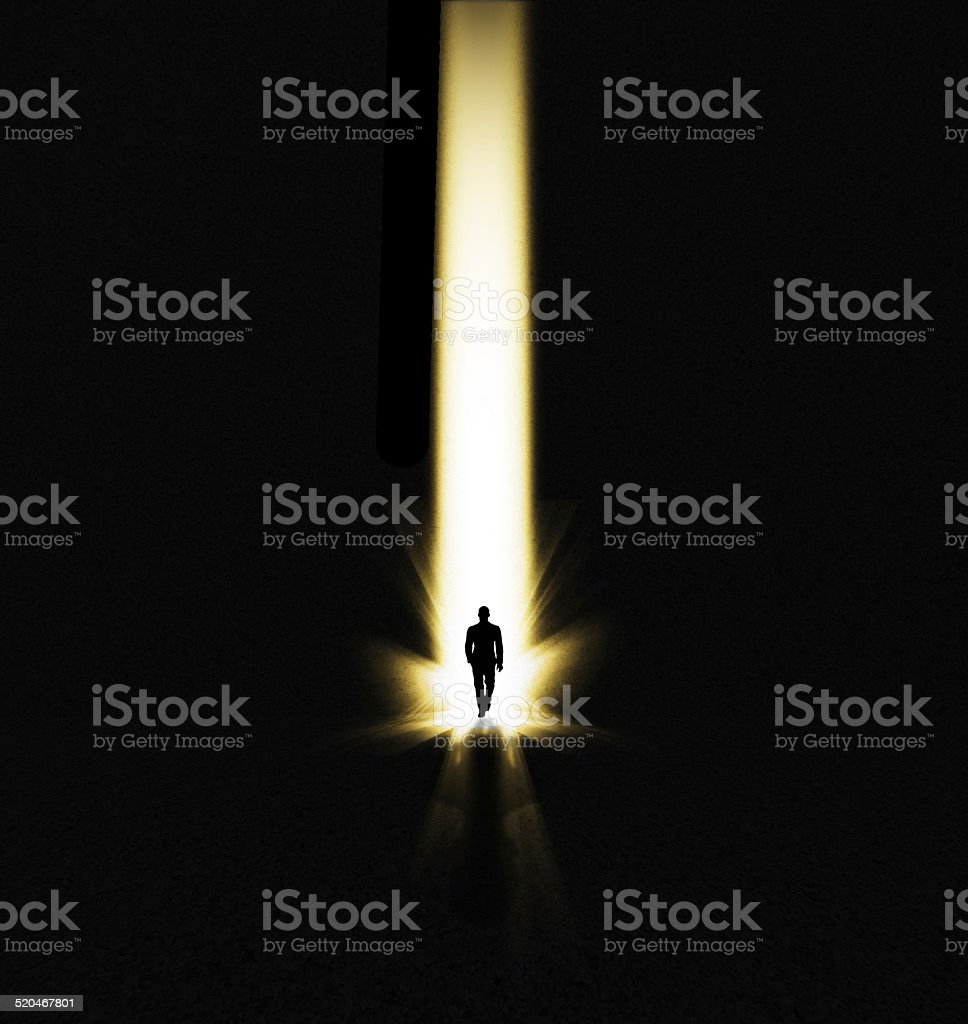 Finding the light stock photo