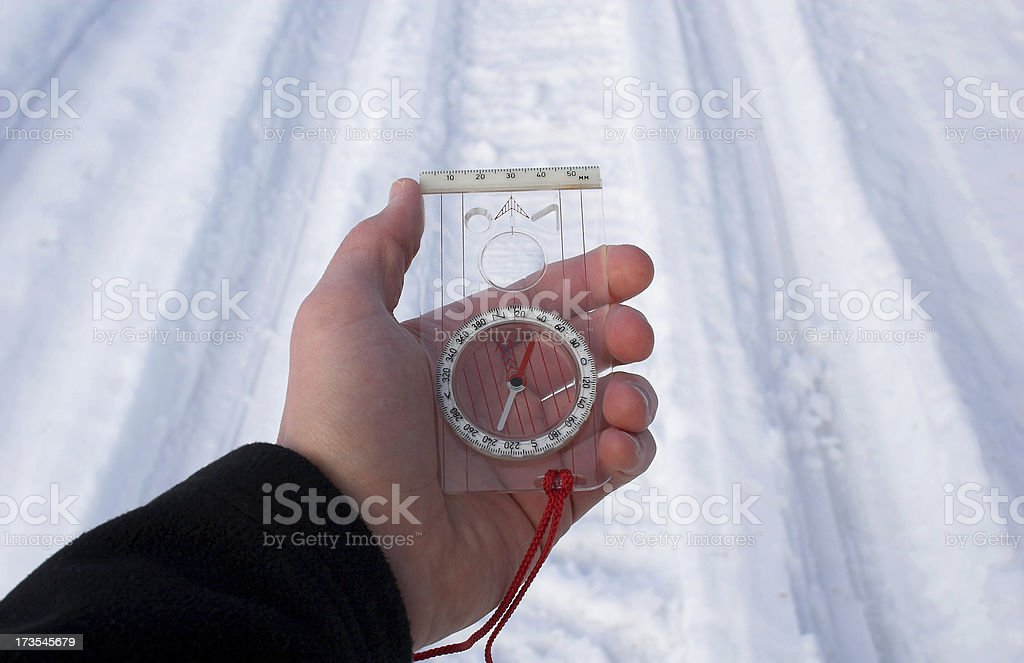 Finding the right path stock photo