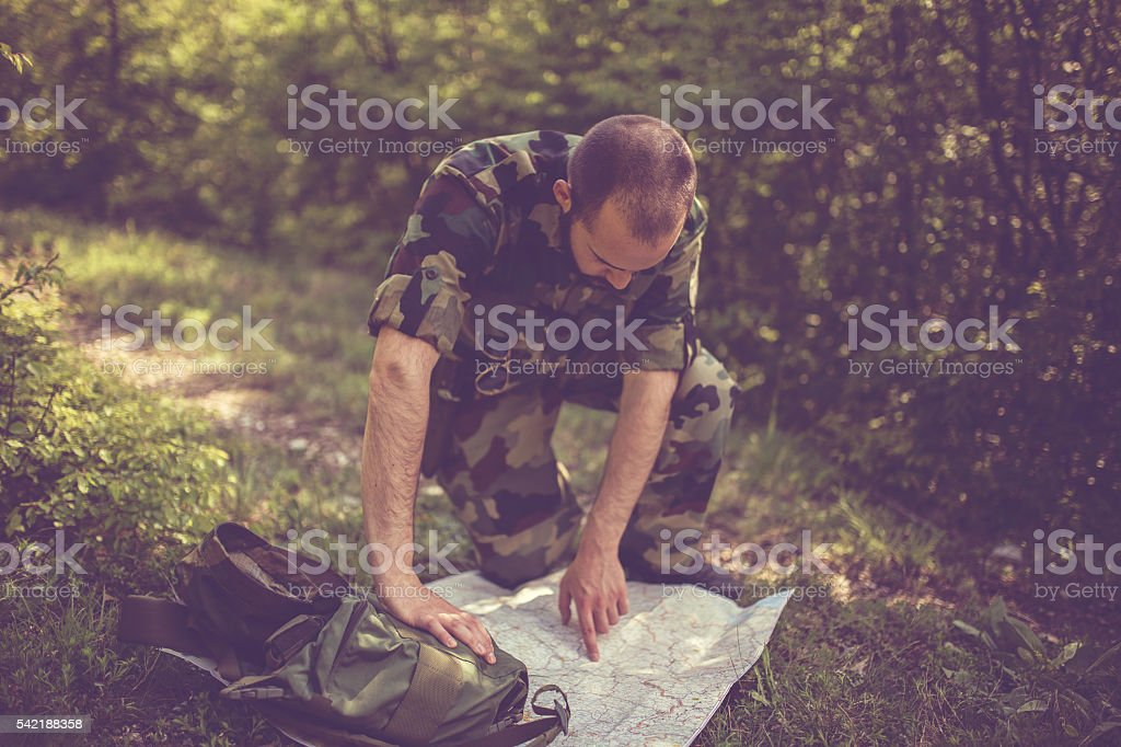 Finding the right way stock photo