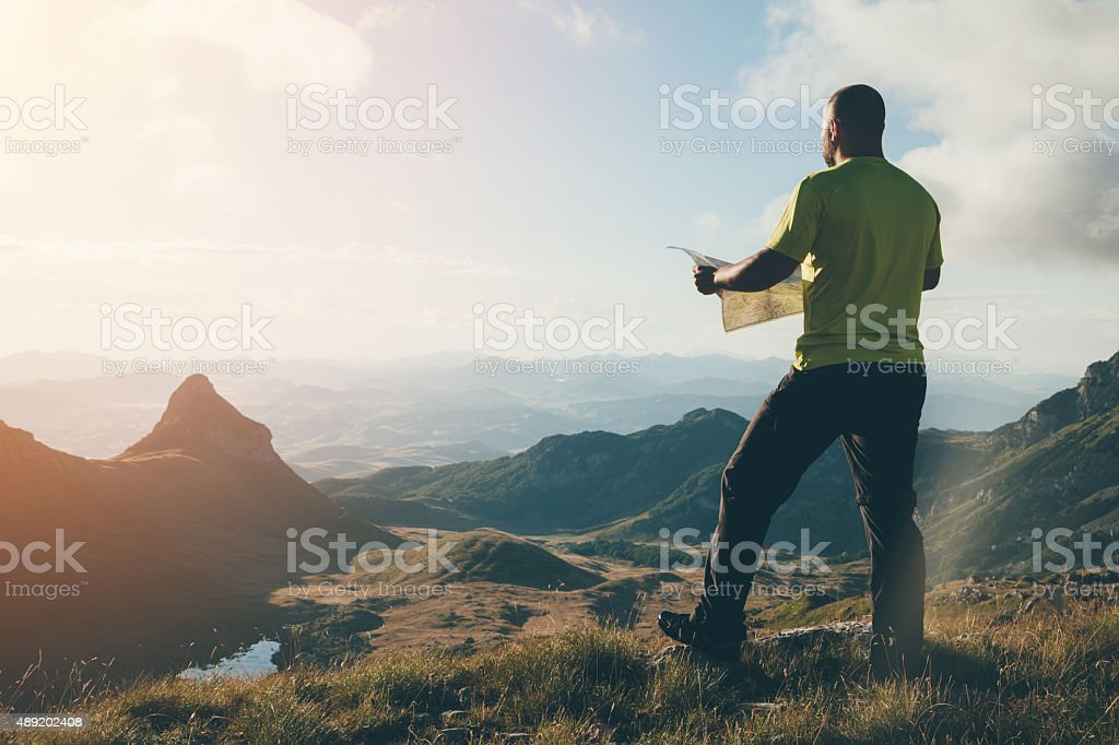 Finding the way. stock photo