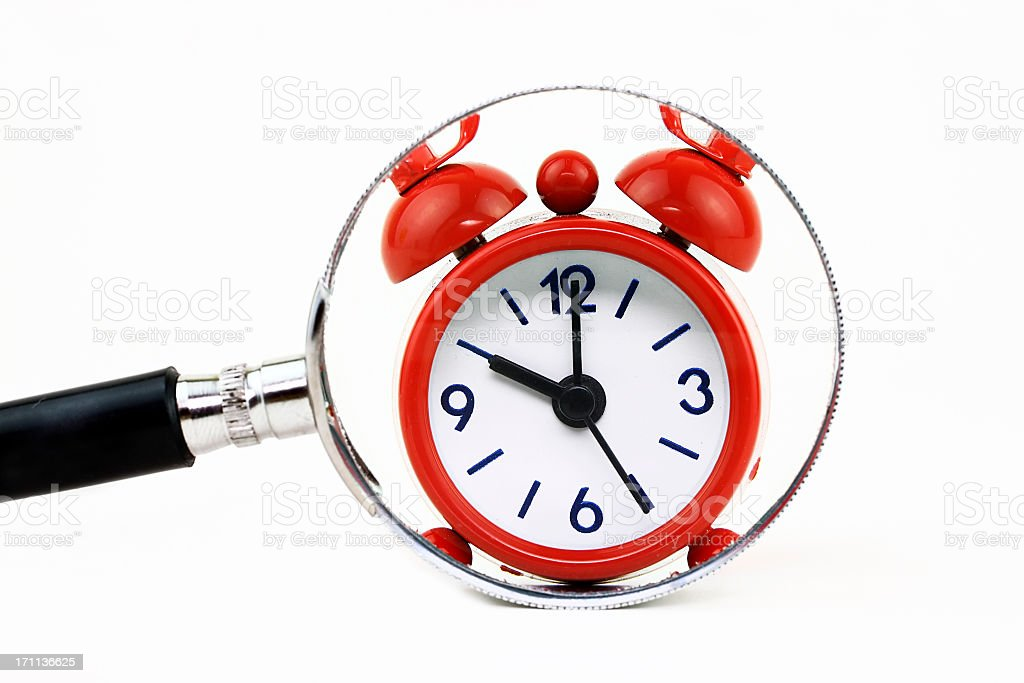 Finding time stock photo
