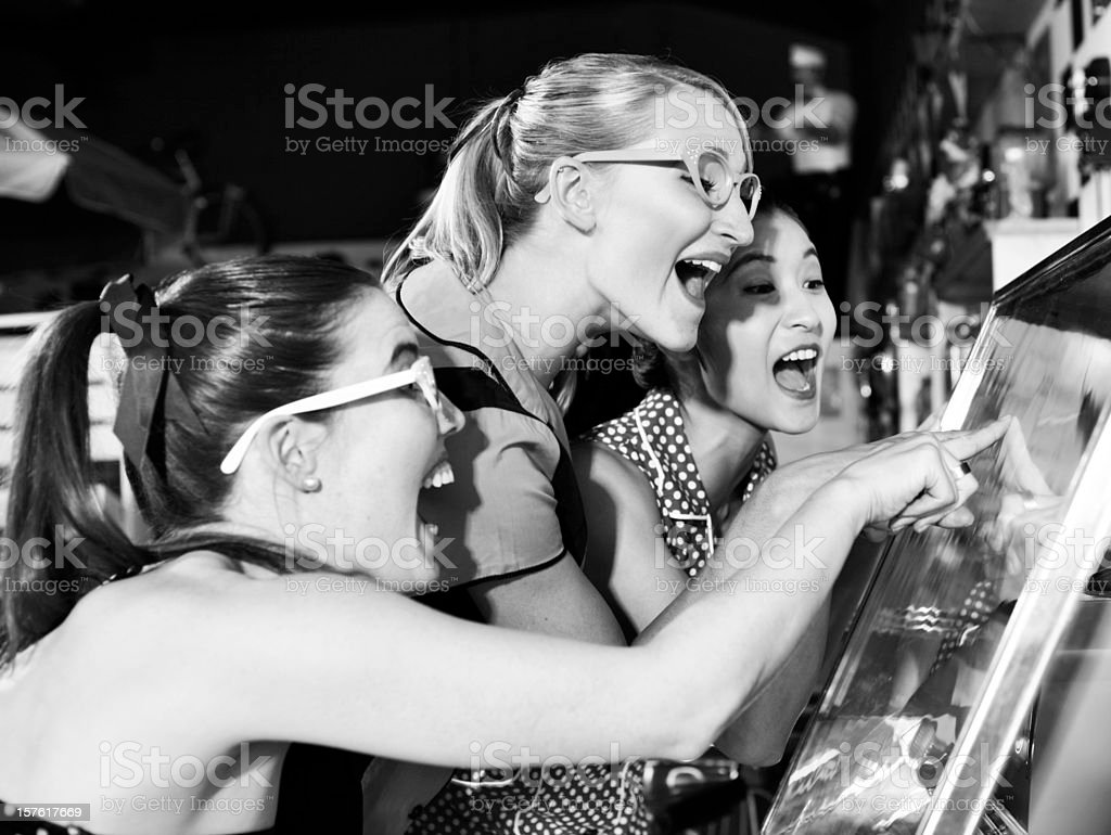 Finding Your Favorite Song on the Jukebox royalty-free stock photo
