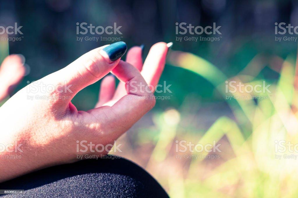 Finding Zen with Yoga stock photo