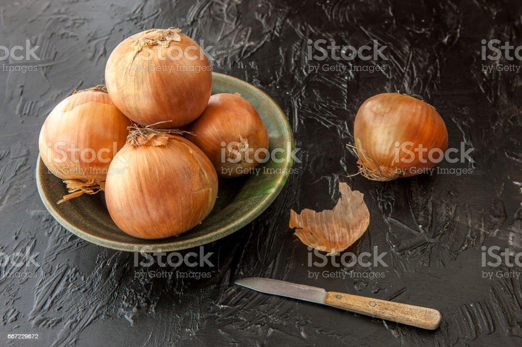 Fine art image of onions. stock photo