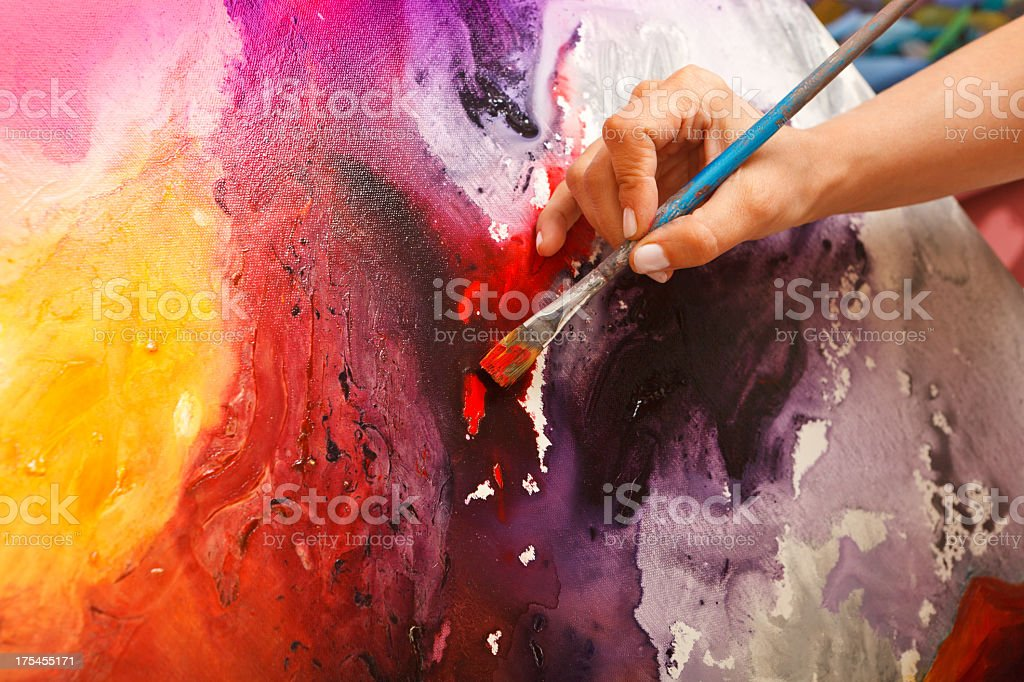 Fine art painter stock photo