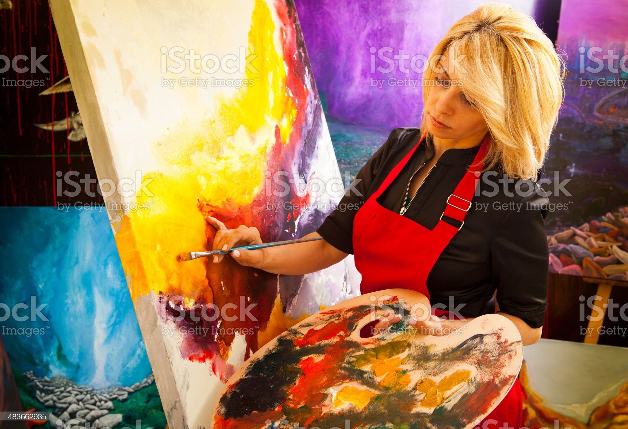Fine art painter royalty-free stock photo