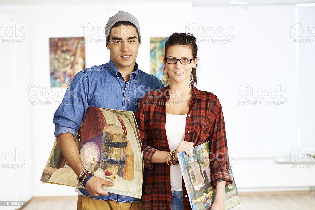 Fine art painters stock photo