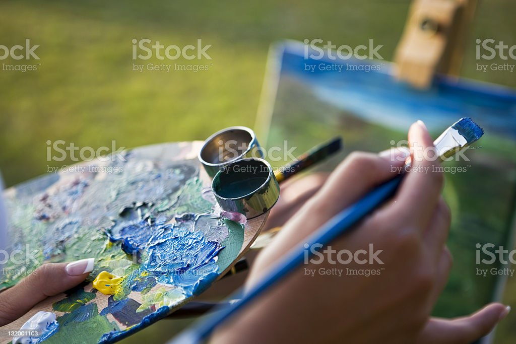Fine Art Painting royalty-free stock photo