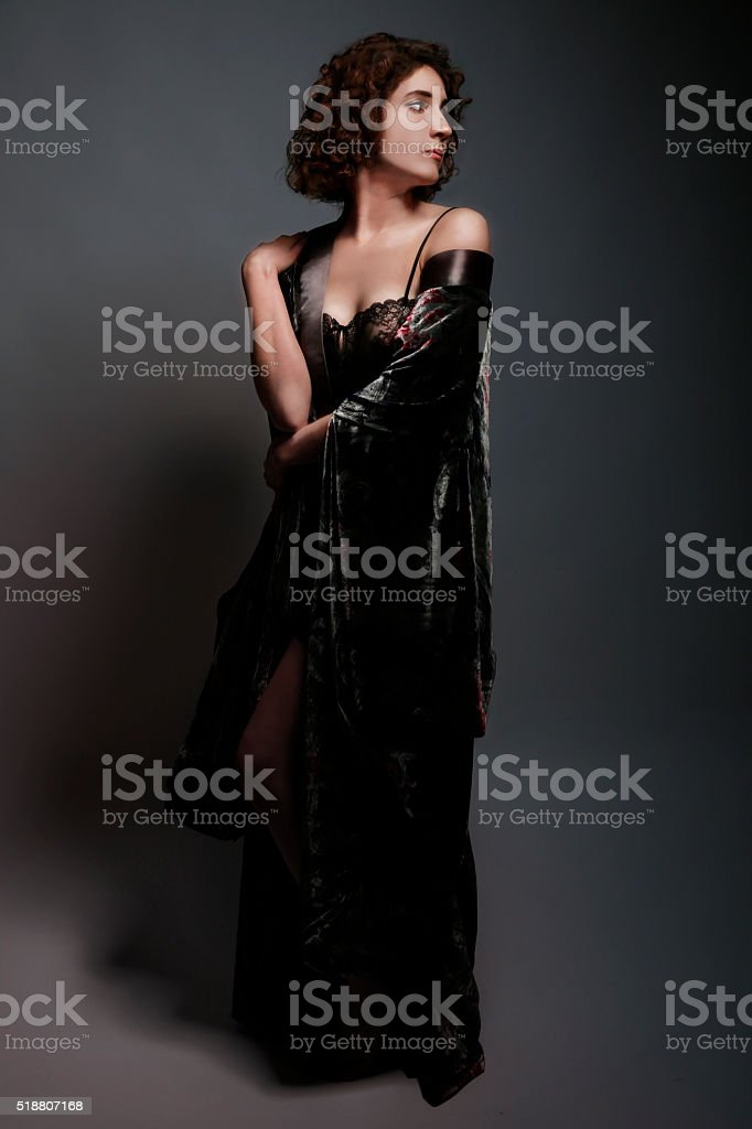 Fine art portrait of a Woman in the Edwardian style. stock photo