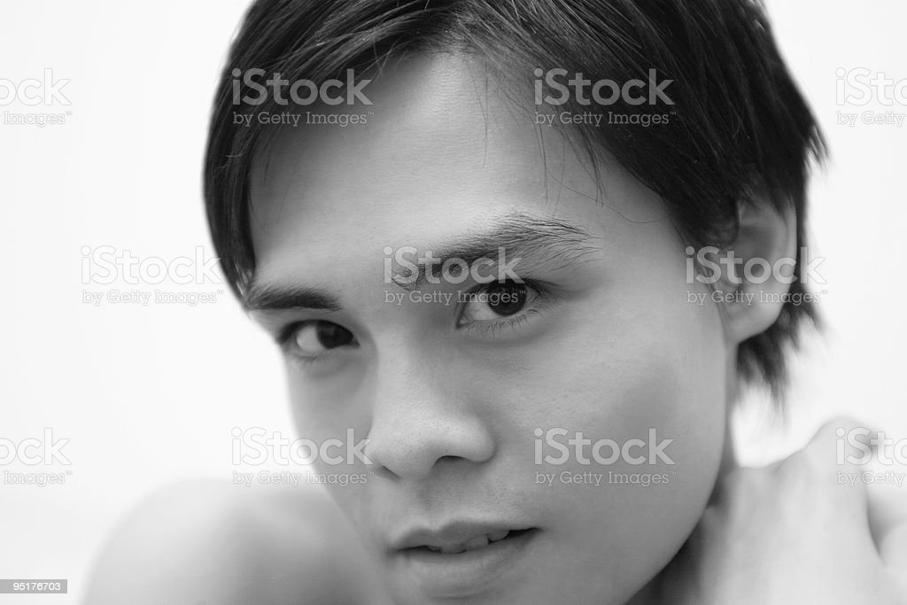 Fine Art Portrait Of A Young Chinese Man stock photo