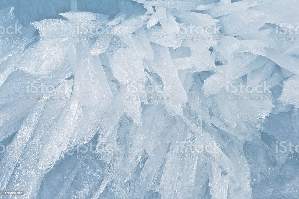 Fine background from an ice structure in Baikal royalty-free stock photo