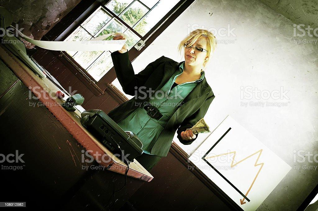 Fine Balance of Business, Skewed (Xpro) stock photo