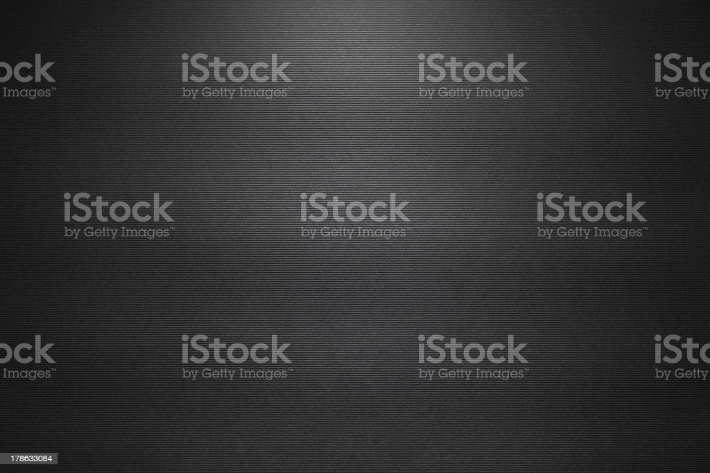 Fine black linen paper background with horizontal stripe texture. royalty-free stock photo