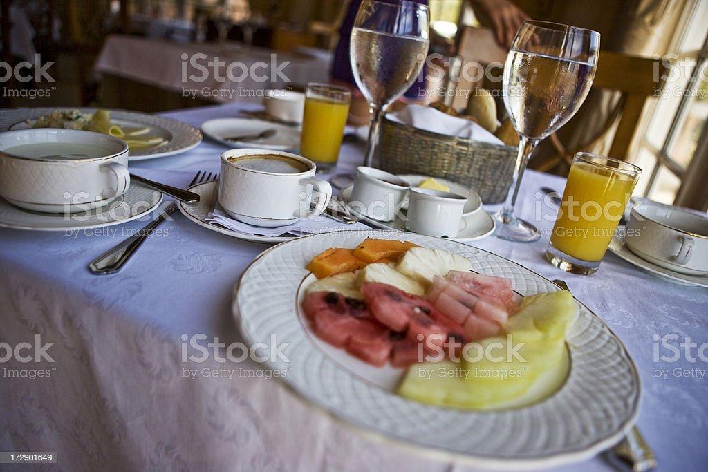 Fine breakfast royalty-free stock photo