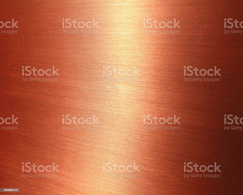 Fine brushed copper texture stock photo