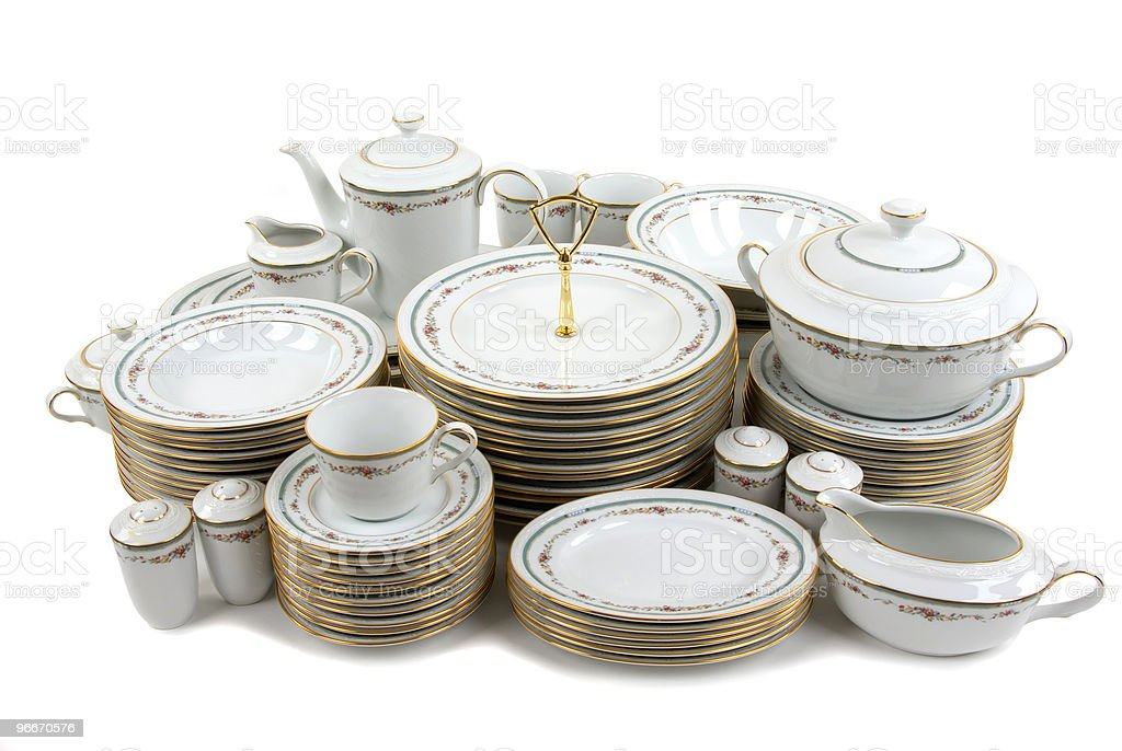 Fine China royalty-free stock photo
