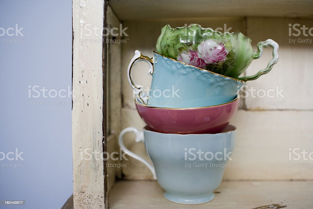 Fine China Teacups royalty-free stock photo
