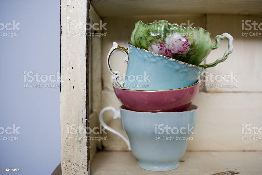 Fine China Teacups royalty-free stock photo