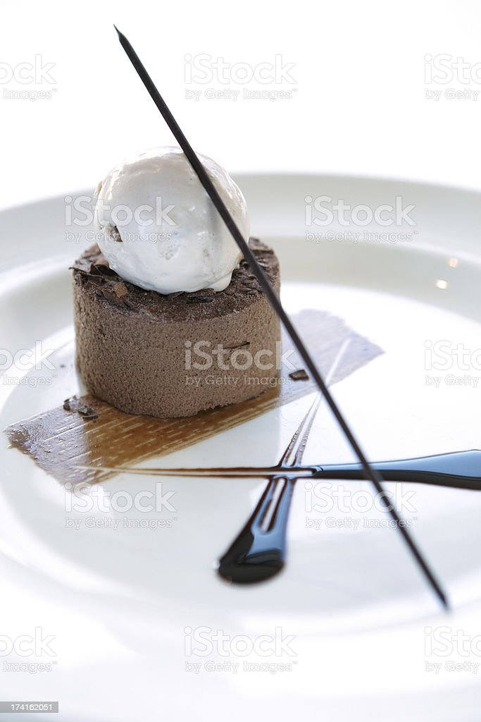 Fine chocolate mousse royalty-free stock photo
