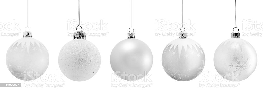 fine Christmas ornaments stock photo