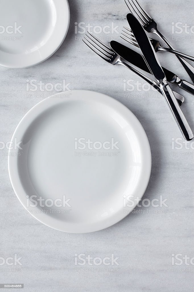 Fine dining cutlery stock photo