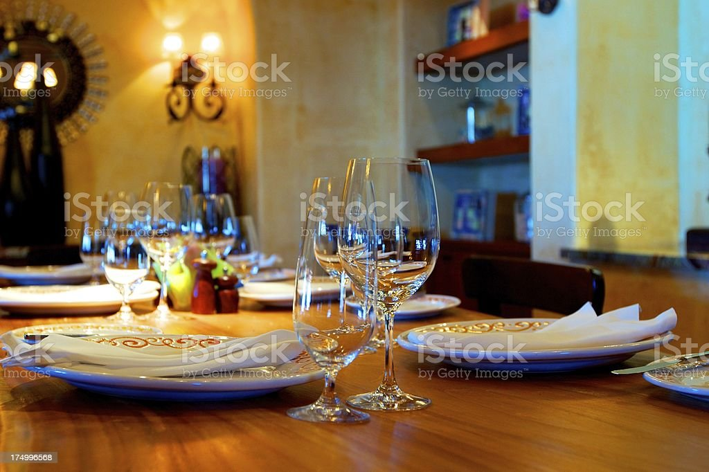 Fine Dining in Southwestern Style royalty-free stock photo