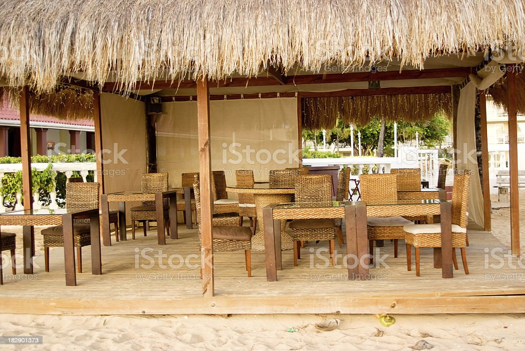 fine dining outdoors stock photo