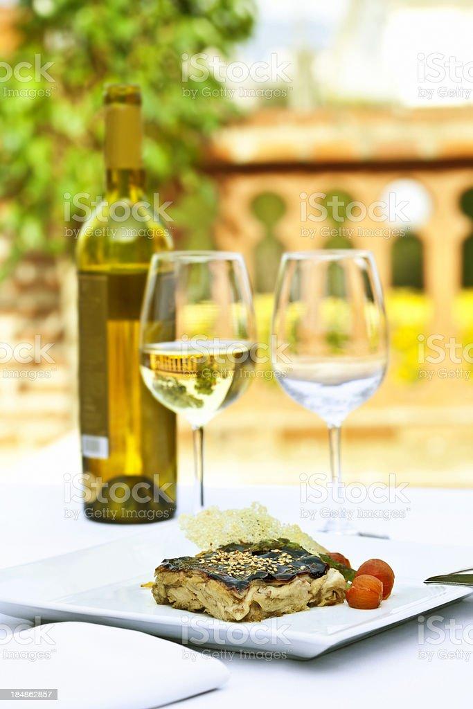 Fine dining, restaurant terrace royalty-free stock photo
