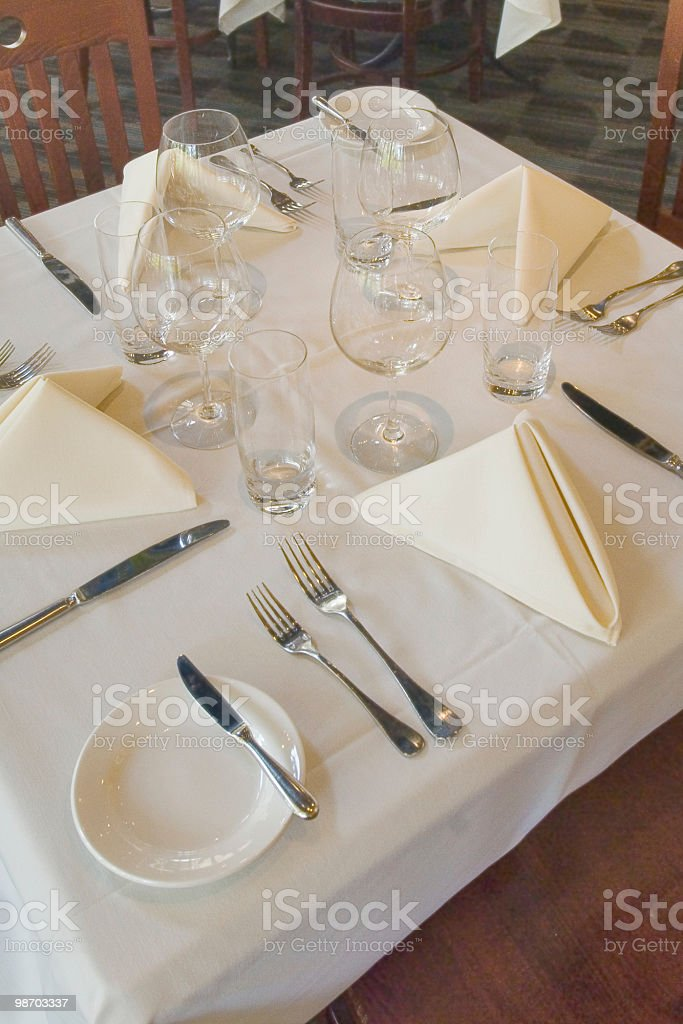 fine dining table setting royalty-free stock photo
