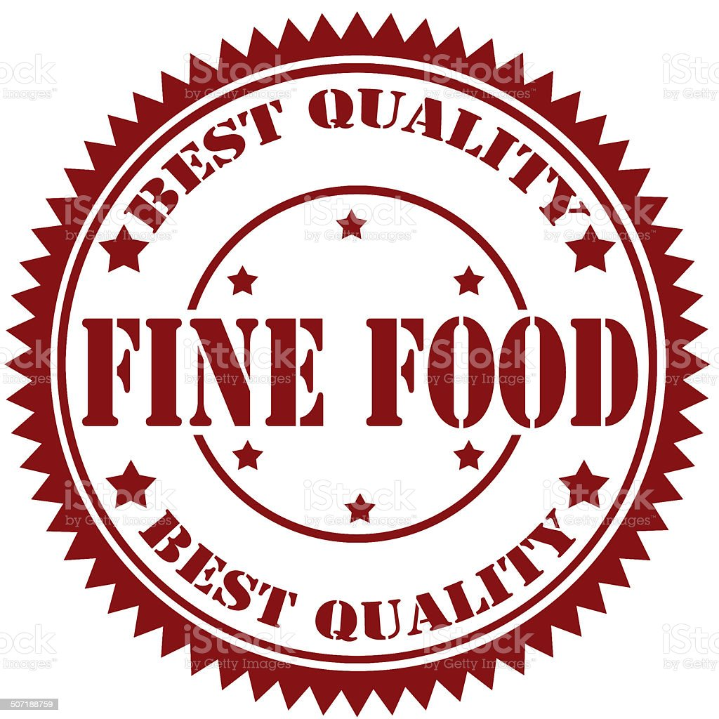 Fine Food-stamp royalty-free stock photo